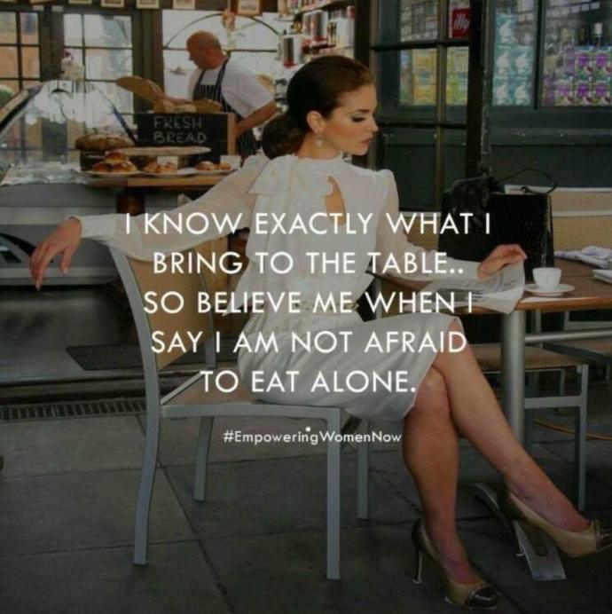 Do you eat out alone often?