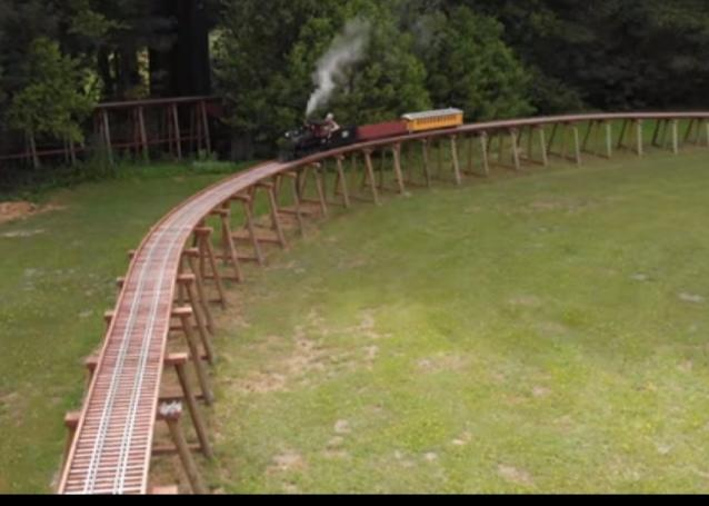 What would you think if you seen this train at this mans house?
