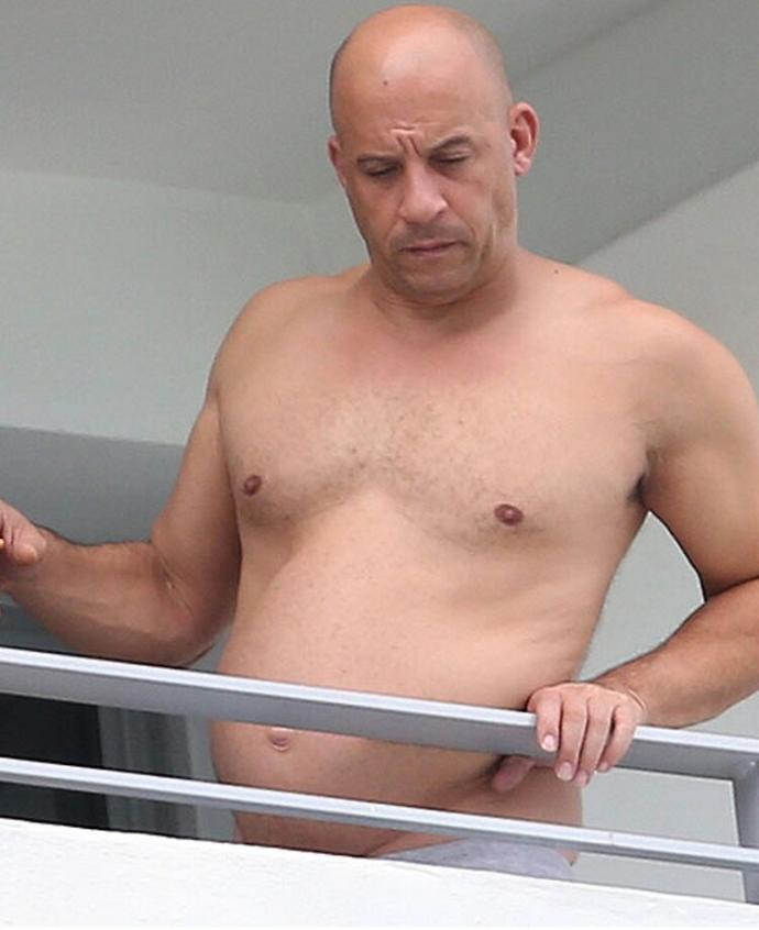 Was vin diesel ever really all tHat in shape?