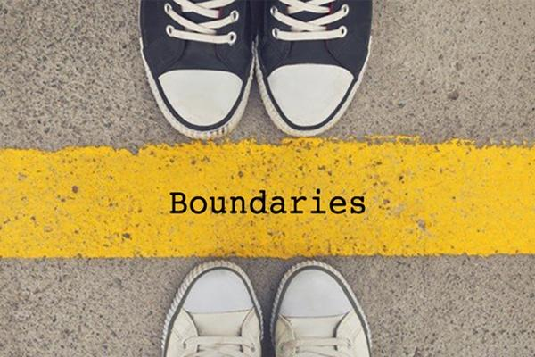 What is some good ways to build boundaries and stick to them?