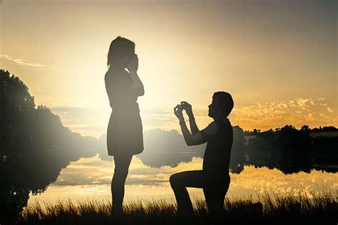 A man proposing to a woman.. obviously