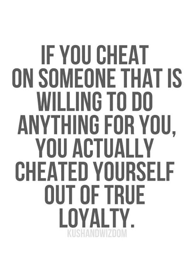 Does cheating on your partner say anything about you as a ...