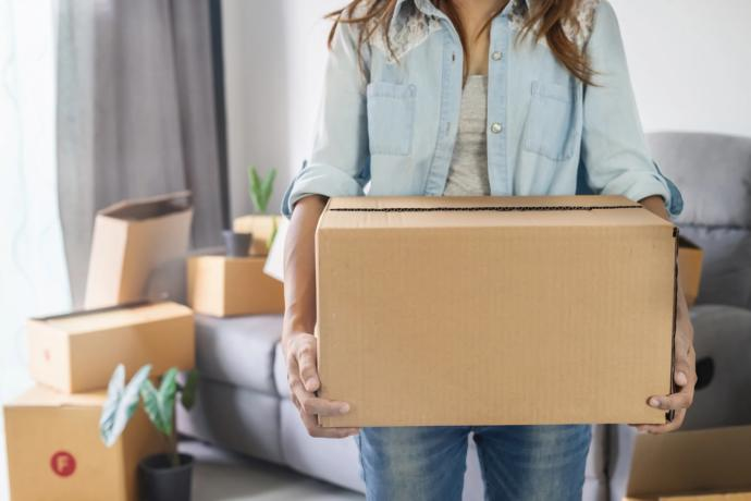 How do you prepare yourself to collect your belongings from an ex's place?