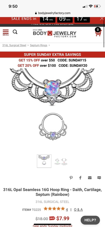 Where to buy septum rings online?