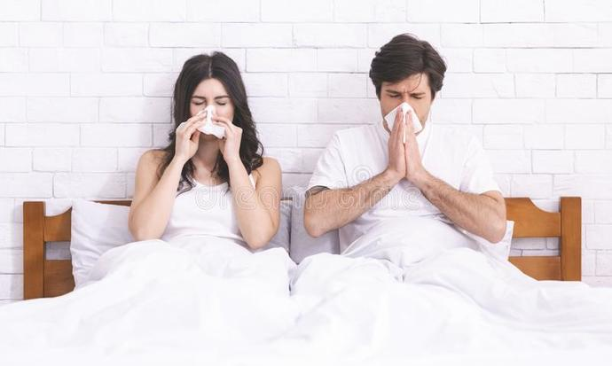 Do you sleep next to your SO or alone when you have the flu?