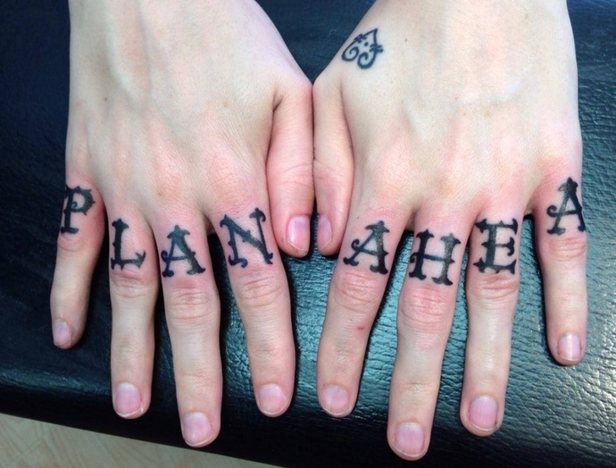 Why do people get tats on their knuckles?