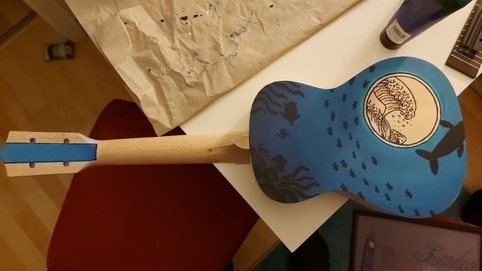 What do you think about this handpainted one of a kind Ukulele?