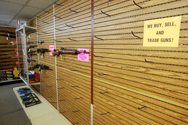 Gun store after the gun grab