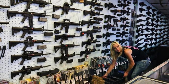 Guns store before the grab