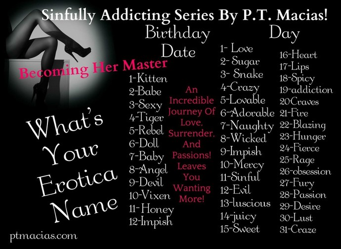 What is your Erotica Name?