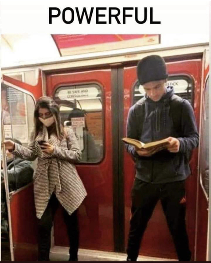 What do you notice in this photo What is the difference between these two people?