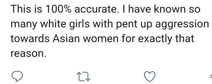 Why do white girls feel threatened by Asian girls?