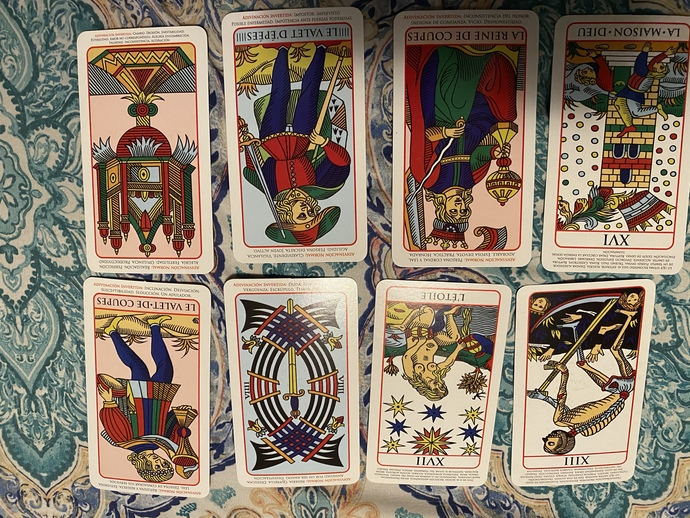 Hello somebody who knows how to read tarot cards please help me. what does this mean? I asked a question about what would happen in my relationship?