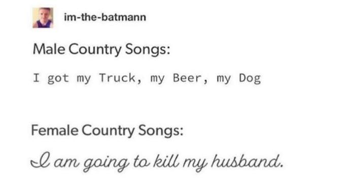 Is country just a poorly written pop with an accent?