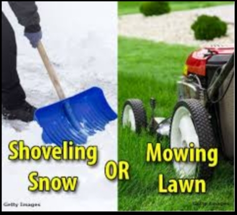 Which Do You Dislike More: Cutting The Grass Or Shoveling The Snow?