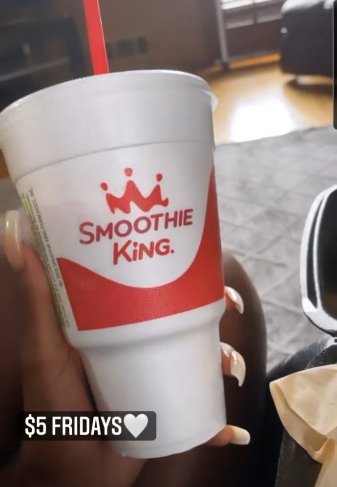 Did you know Friday means $5 smoothies at smoothie king, whats your favorite smoothie?