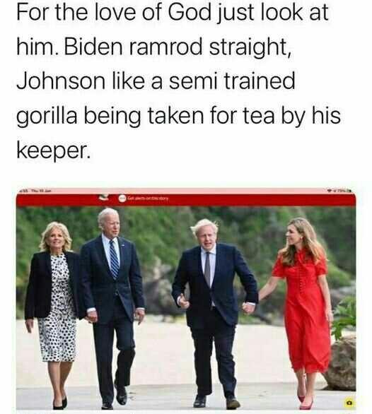 In the recent Boris/Biden wife swap who got the best deal?