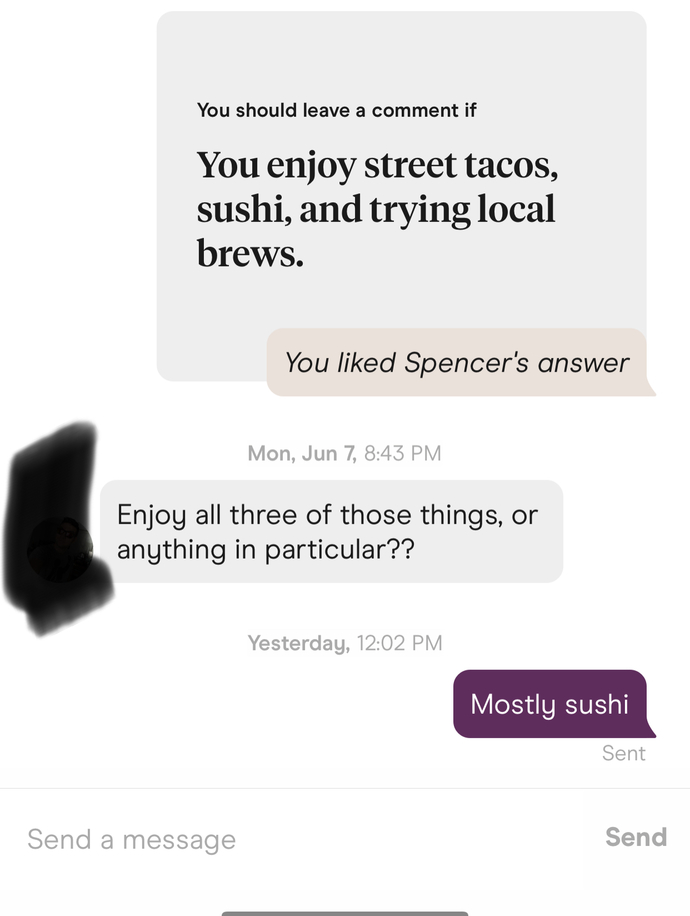 Am I boring from these dating app conversations?