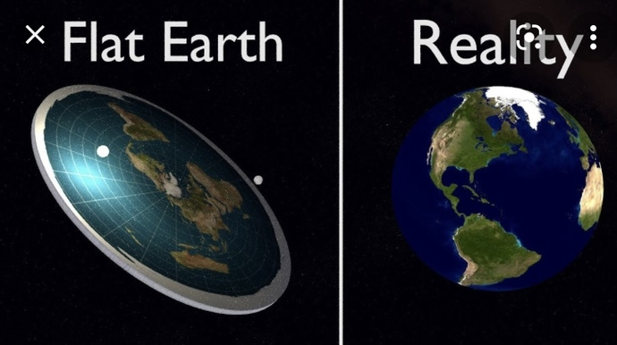 Do u think the earth is flat? Or a sphere?
