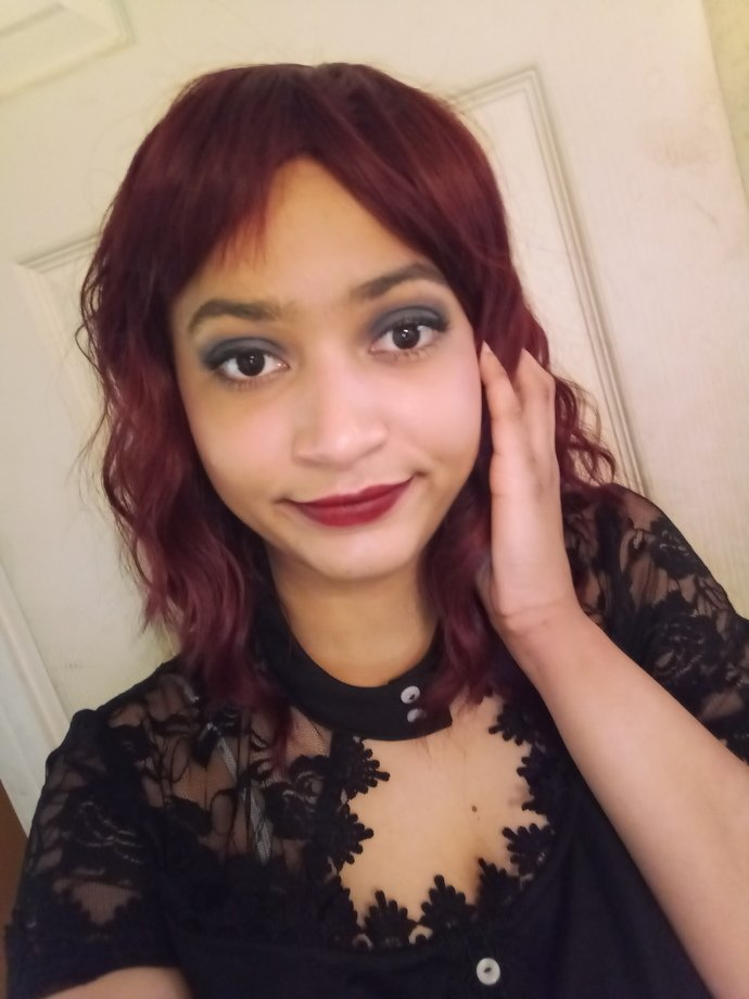 Do I look better with black or red hair?