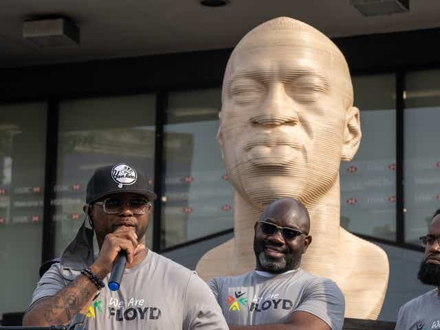Would you care if someone toppled these George Floyd statues?