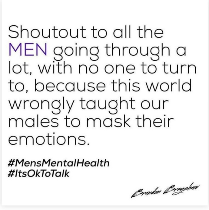 Mens mental health awareness month. How are you?
