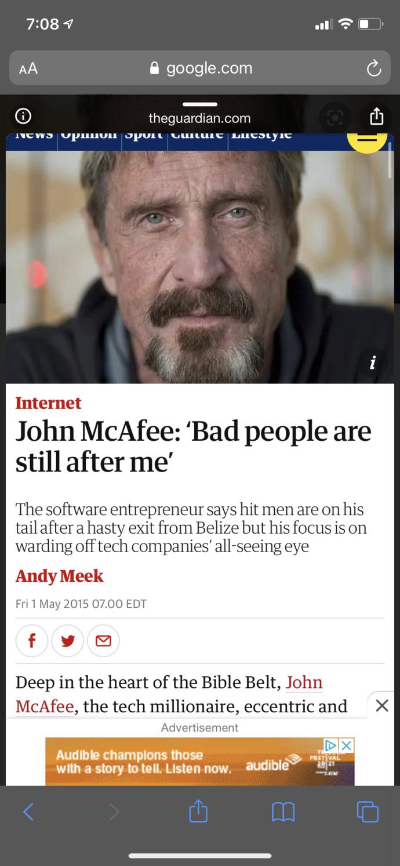 Did John Mcafee kill himself or was he murdered?