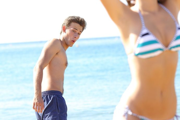 Girls, do you like it when you can tell a guy is checking you out in a bikini?