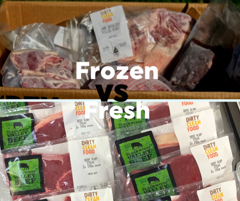 Fresh vs frozen meat! Can you tell the difference?