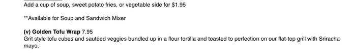 I'm excited I'm going to a vegetarian restaurant tomorrow, if you were to go which one of these meals would you choose?