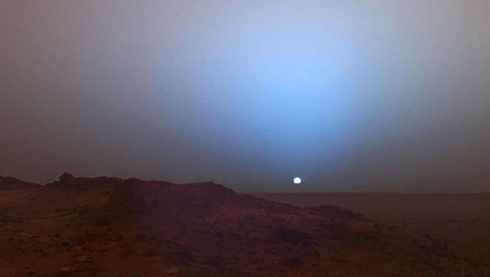 Sunset in Mars