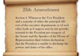 Is it time for Congress to invoke the 25th amendment on President Joe Biden and remove him from the Oval office?