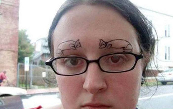 Which of these eyebrows would you like to have?