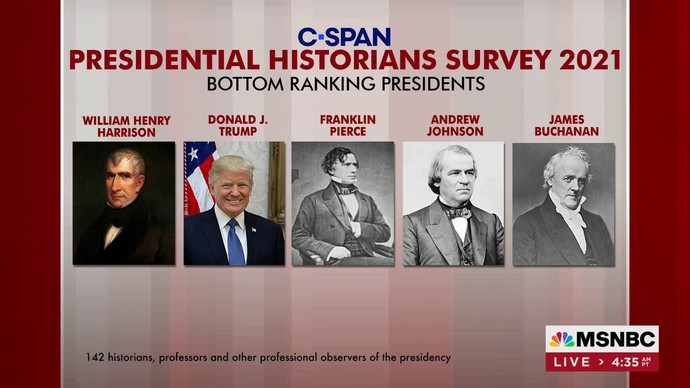 The survey was done among historians by c-span, not msnbc.