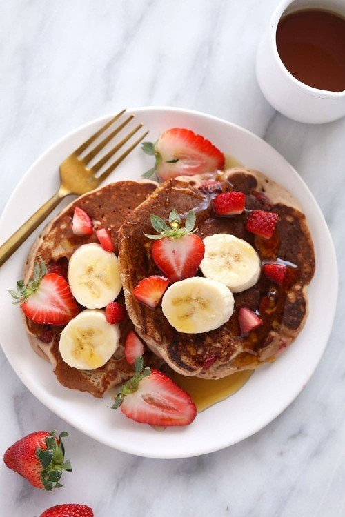 The BEST pancakes have what on them?