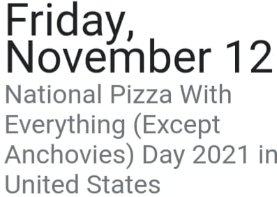National pizza day what do you think of it?