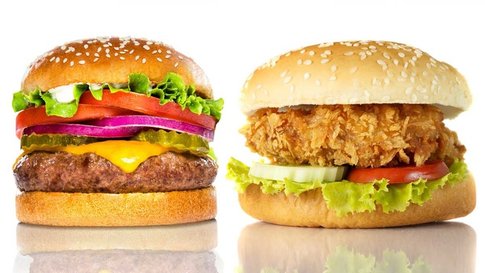Which do you prefer: cheeseburgers or chicken sandwiches?