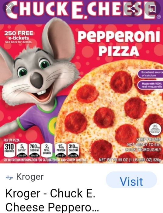 New chuck e cheese frozen pizzas what will become of it?