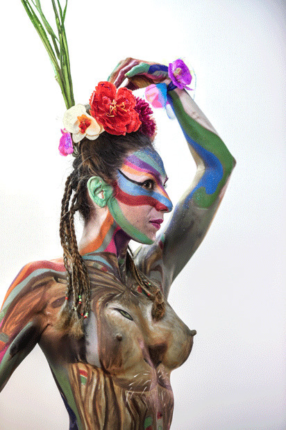 Are you comfortable being painted on and or being a nude muse for a painting?