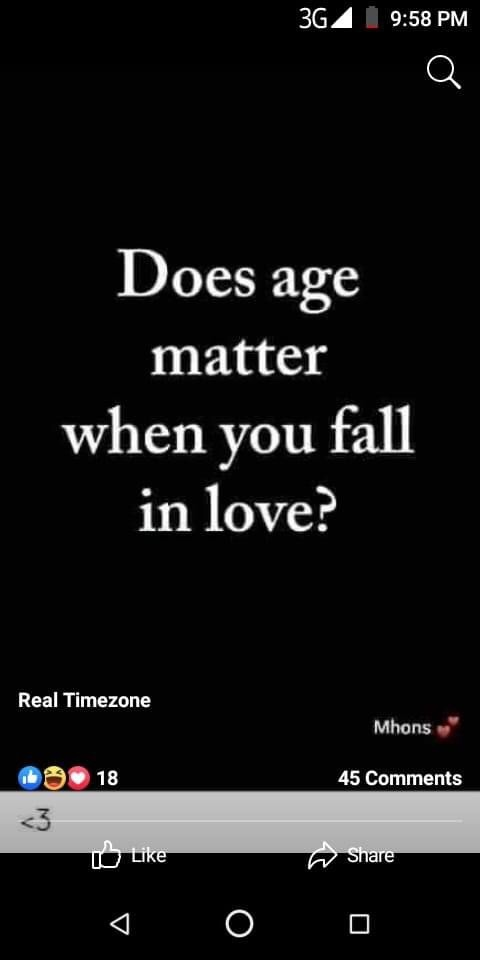 Does age matter when dating or marriage?