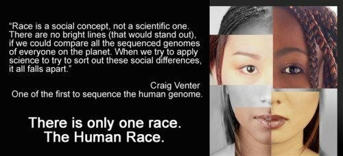 Do you believe there is only one race, the human race?