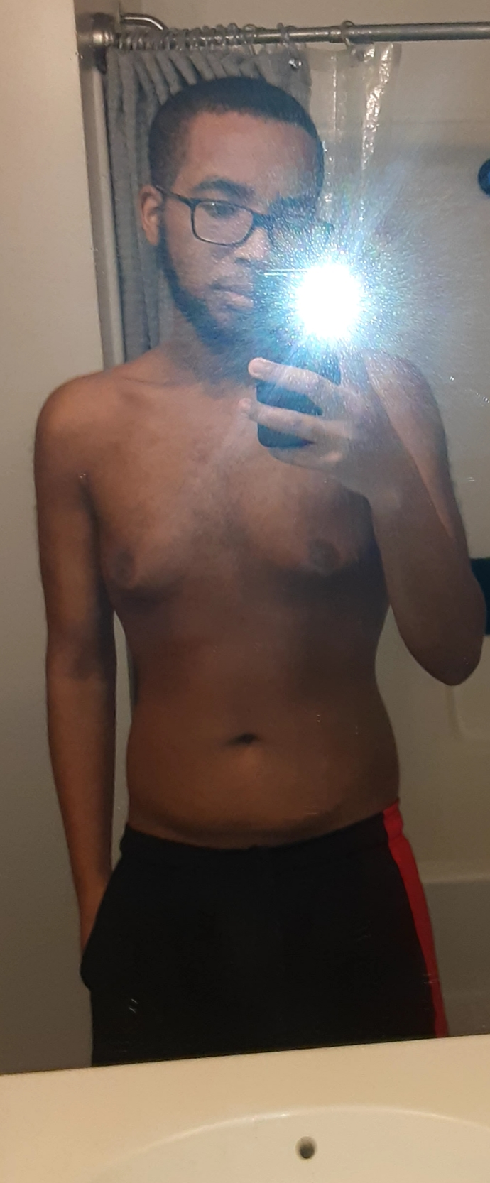 My chest (excuse the moobs, I came down from 220lbs)