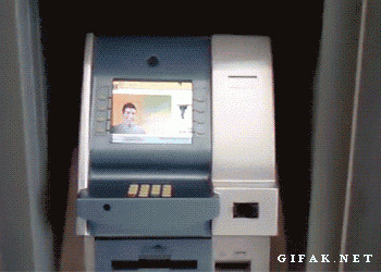 #Scenario What would you do if you literally saw this man walk off with all your atm info (see gif below)?