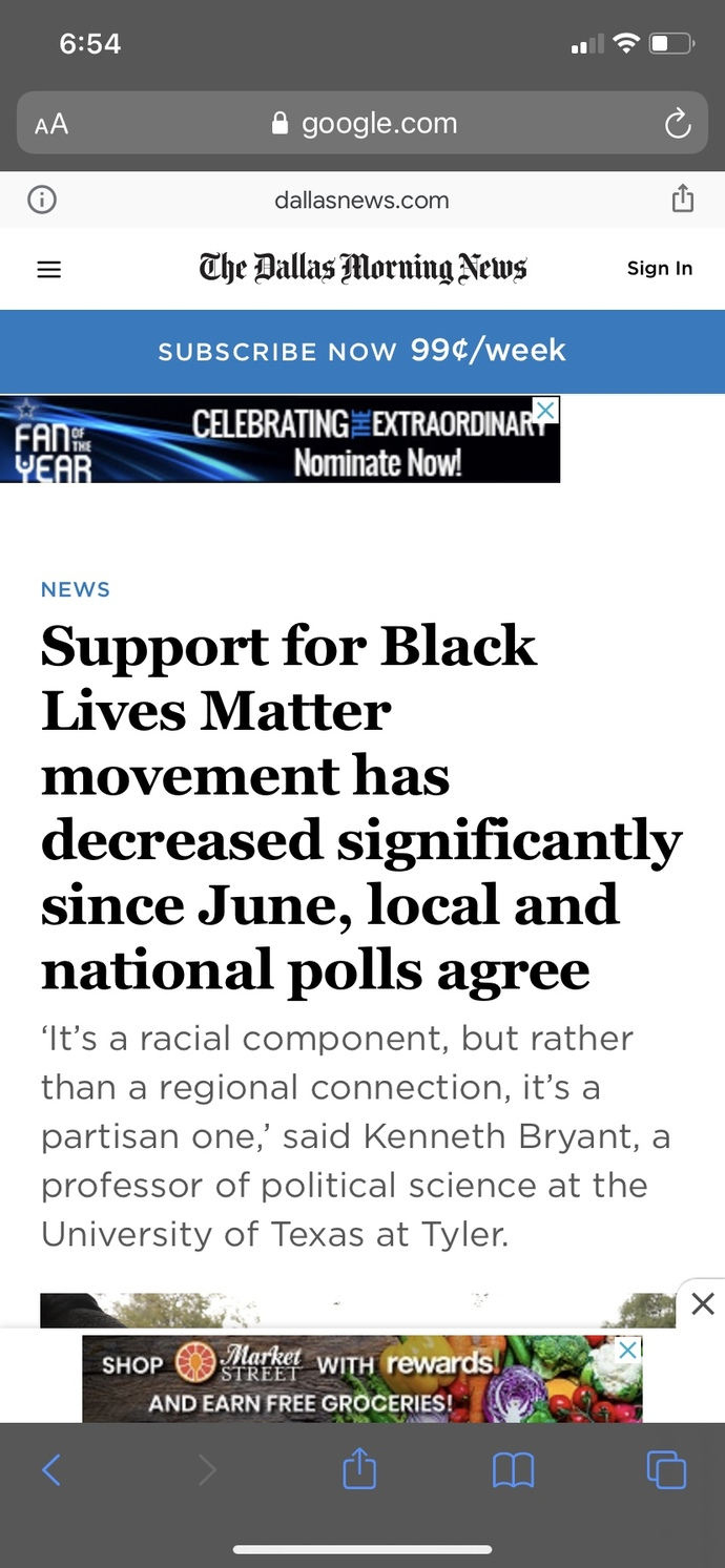 Black Lives Matter has steadily been losing support/approval, while law enforcement has seen a rise in public trust. Your thoughts?