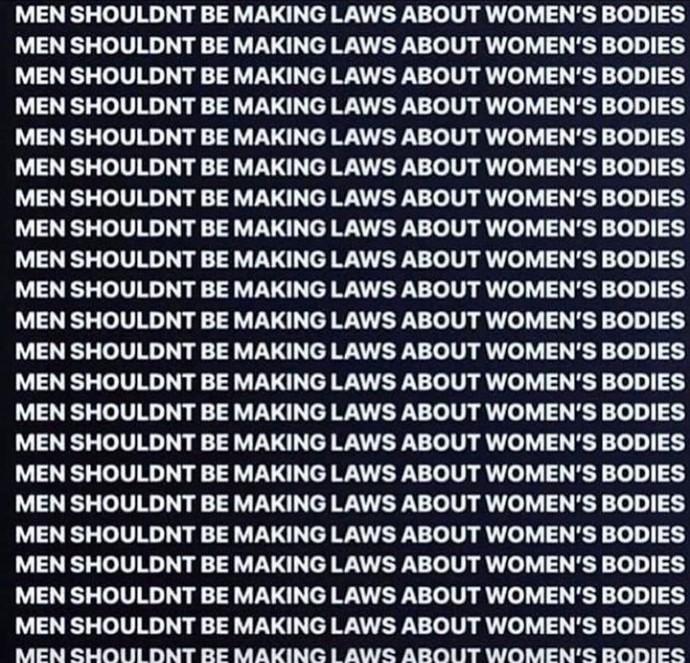 Should Men make law about Women bodies?