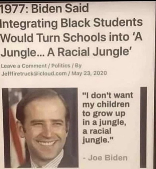 How you feel about what Joe Biden said in 1977?