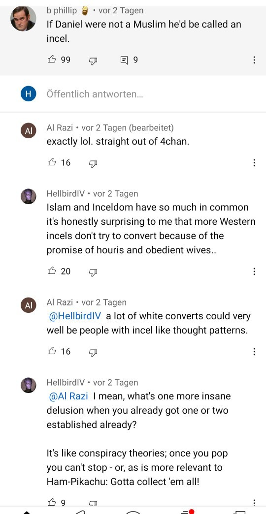 Why do some people hate feminazis but dont say anything about mgtow or redpill incels? What do you think about many mgtows/repills who likes islam?