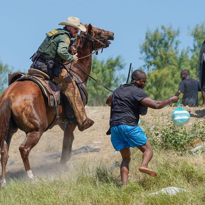 Why do you think that Bidens press secretary REFUSED to say if these pics of border patrol on horses with whips, were real?