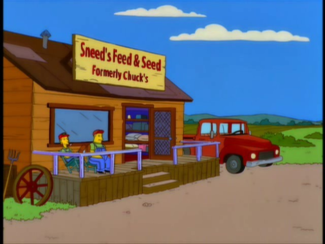 What was Sneeds shop called when it belonged to Chuck?