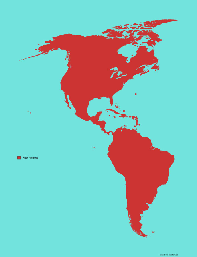 What if all Canada, Mexico, all Central America, the Caribbean, Cuba, and South America become one nation?